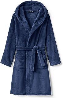 Kids Hooded Fleece Solid Robe