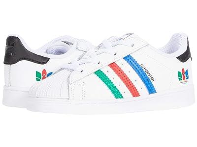 adidas Originals Kids Superstar EL I (Toddler) (FTWR White/Green/Core Black) Kid