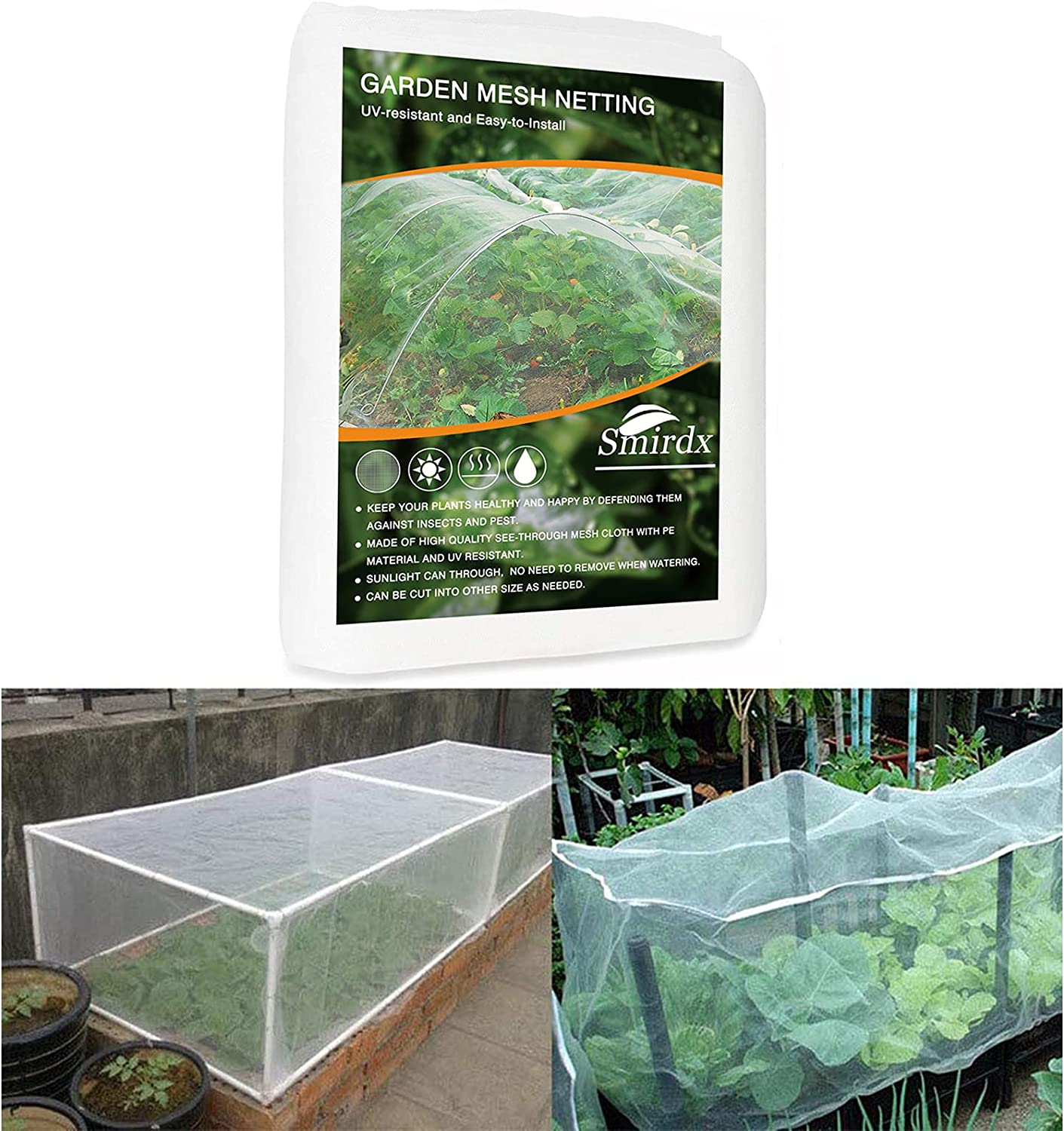 Ultra Fine Garden Mesh Netting, 6.6 x 9.9FT Bird Screen Barrier Netting, Thicken Plant Covers Protect Plant Fruits Flower Vegetable Health Growing