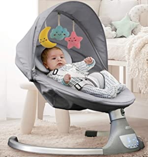 Nova Baby Swing for Infants - 5 Swing Options,10 Preset Lullabies, Bluetooth Enabled, Remote Control, IMD Touch Panel, Gra...