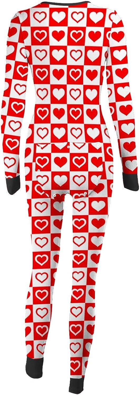 TTTK Women's Button-down Front Functional Buttoned Flap Adults Pajamas One Piece Sleepwear Jumpsuit Thermal Underwear Set