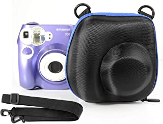 Ingo Protective Case Polaroid PIC-300 Instant Film Camera, Featured Blue Zip Contrast Color, Free Shoulder Strap, Convenient to take Out Put Back The Camera from The Protective case