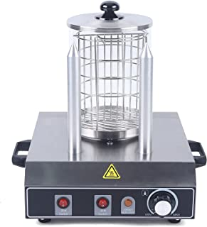 Hot Dog Maker, Réchauffeur de hot-dog, Machine à Hot Dog Professionnelle, Appareil Hot Dog, Cage en acier inoxydable, 350 ...