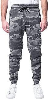 Brooklyn Athletics Mens Fleece Jogger Pants Active Zipper Pocket Sweatpants Solid Sweatpants
