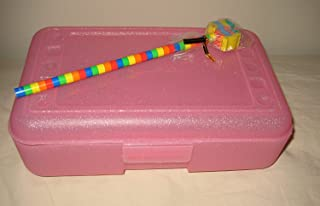 Romanoff Products Pencil Box Pink Sparkle with Rainbow Pencil