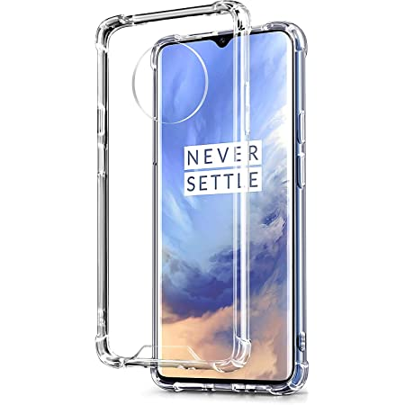Amazon Brand - Solimo Transparent Case (Hard Back & Soft Bumper Cover) with 8 Foot Drop Porotection for Oneplus 7T