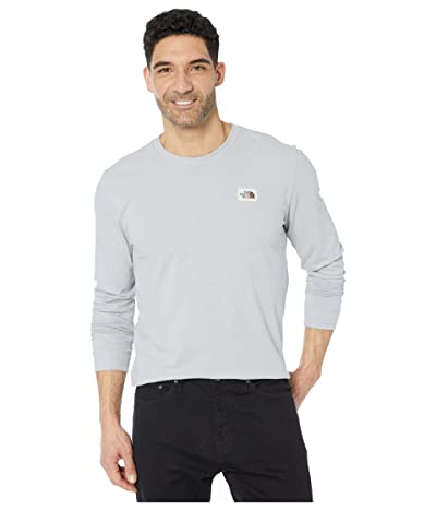 The North Face Long Sleeve Recycled Materials T-Shirt (TNF Light Grey Heather) Men
