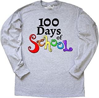 inktastic 100 Days of School- Rainbow Letters Long Sleeve T-Shirt