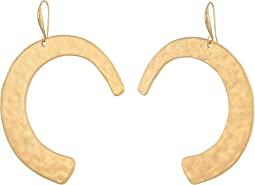 Gold Curved Drop Earrings