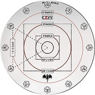 """CZYY Spell AOE Damage Marker 1 """"グリッドまたは六角テーブルトップゲームマットアクリルD&Dエリア効果テンプレート用"""