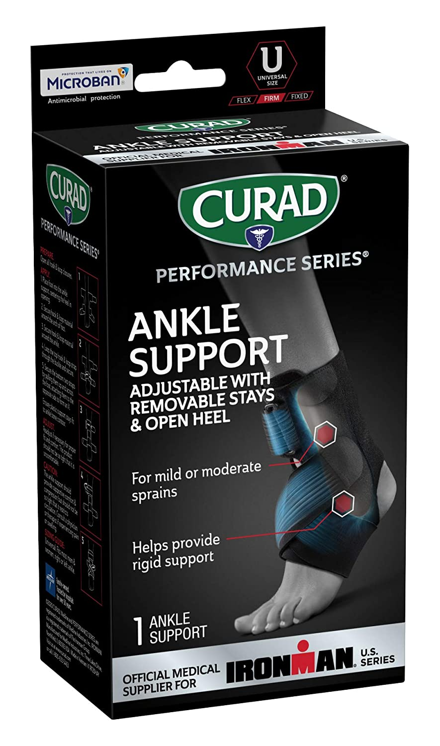 CURAD Performance Series Popular standard High quality Ironman Ankle St Support with Removable