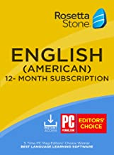 Rosetta Stone: Learn English (American) for 12 months [Auto-recurring Subscription]