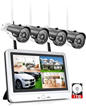 """Sponsored Ad - XVIM 12"""" Monitor Wireless Security Camera System with 1TB Hard Drive for Home, 4pcs 2.0MP Outdoor Waterproo..."""
