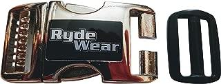 Chrome Metal RydeWear Motorcycle Dirt Bike RZR ATV Helmet Quick Release Helmets Chin Strap Buckle