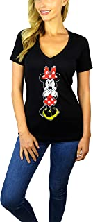 Disney Womens Minnie Mouse V-Neck Tee