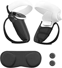 Esimen Finger Socket Grip Cover for Oculus Quest 2 Anti-Throw Touch Controller Handle Protective Sleeve Accessories Lens C...