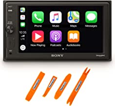 "$298 » Sony XAV-AX1000 6.2"" Compatible with CarPlay Media Receiver & Bluetooth Includes Creative Audio Panel Tool Kit"