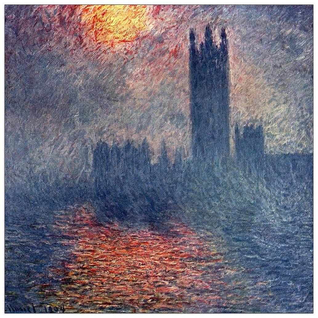 ArtPlaza TW91852 Monet Claude-Parliament in London Decorative Panel, 31.5x31.5 Inch, Multicolored