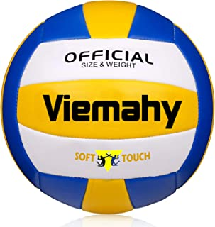 Super Soft Volleyball - Waterproof Indoor/Outdoor Official Volleyball for Pool,Game,Gym,Training,Beach Play (Size 5)…