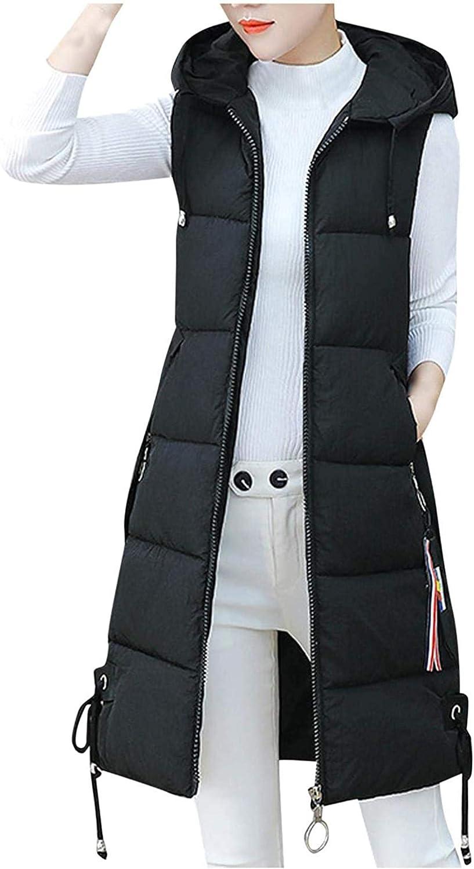 Women Sleeveless Hooded Jackets Cotton-Padded Print Coats Outwear Vest Hoodie Waistcoat Sherpa Jacket Faux Fur Coat