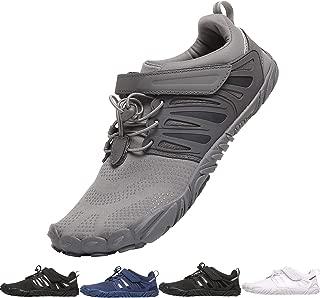 PAGCURSU Men's Minimalist Trail Running Barefoot Shoes   Wide Toe Box