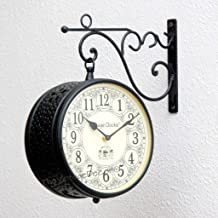 Vintage Clock Handcrafted Double Side Clock/Railway Clock/Jali Design
