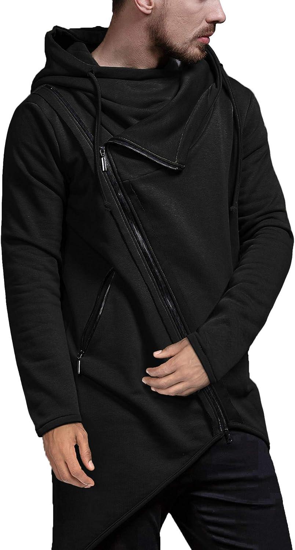 COOFANDY Men's Fashion Hoodie Lightweight Casual Sweatshirt Irre
