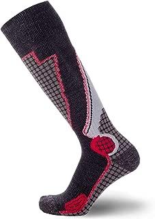 Pure Athlete High Performance Wool Ski Socks – Outdoor Wool Skiing Socks, Snowboard Socks