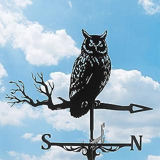 Stainless Steel Weather Vane Owl Weathervane Durable Retro Farm Scene Garden Stake Weathervane,Decorative Weather Vane for...