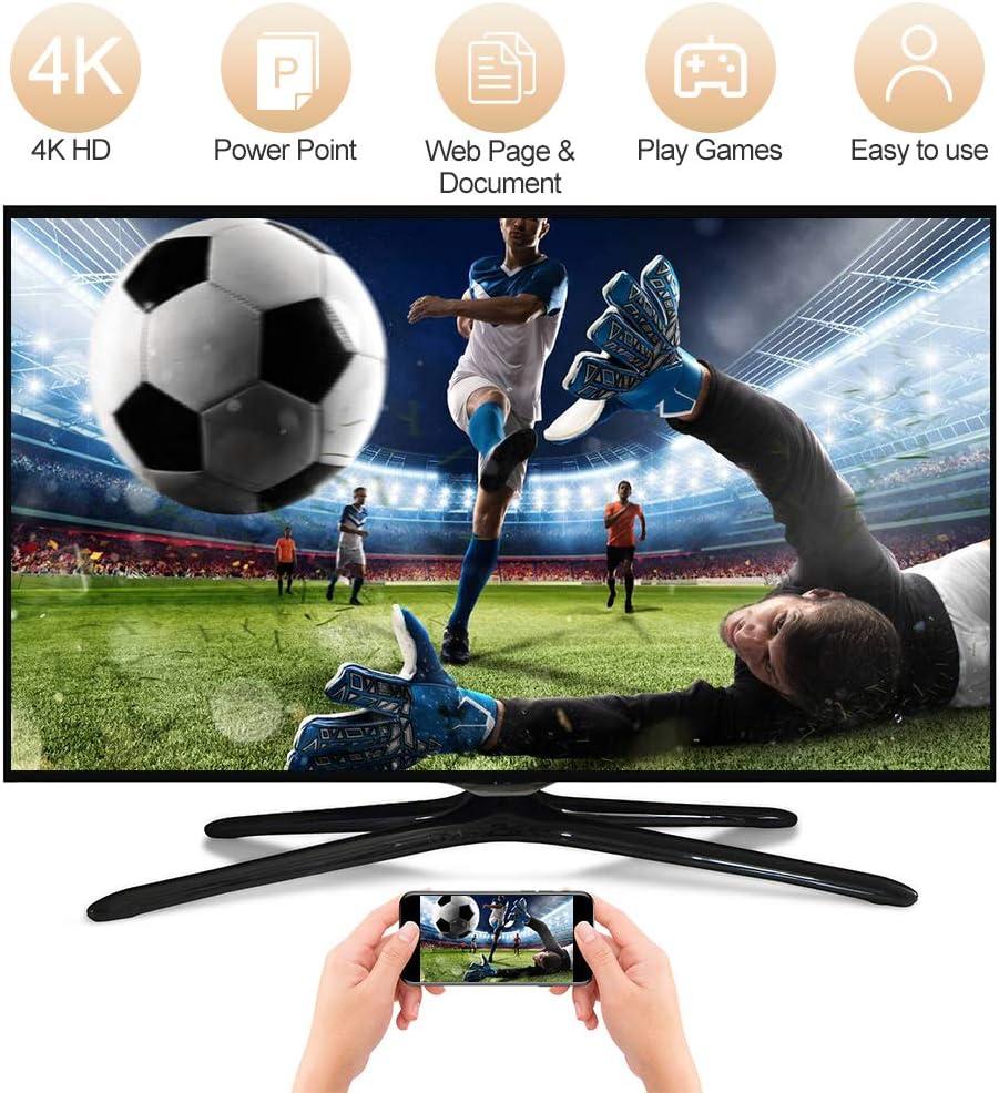 5G WiFi Display Empf/änger Unterst/ützung Miracast Airplay DLNA f/ür Android//iOS//Smartphone//Windows//Mac zu TV//Monitor//Projektor Wireless WiFi Display Dongle HDMI 4K