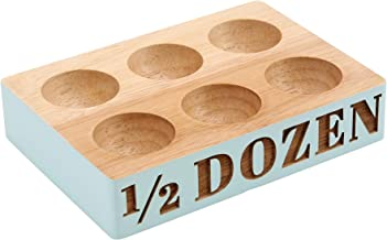 CBS Giftware Loft Bleu 1//2/Douzaine en Bois Support pour /œufs dans Une bo/îte Cadeau