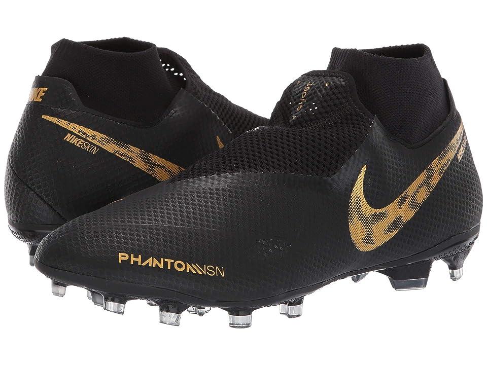 Nike Phantom VSN Pro DF FG (Black/Metallic Vivid Gold) Men's Soccer Shoes