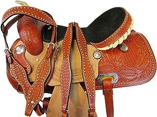 Orlov Hill Leather Co Comfortable DEEP DEAT Barrel Racing Saddle 15 16 Pleasure Show Western Horse TACK Set