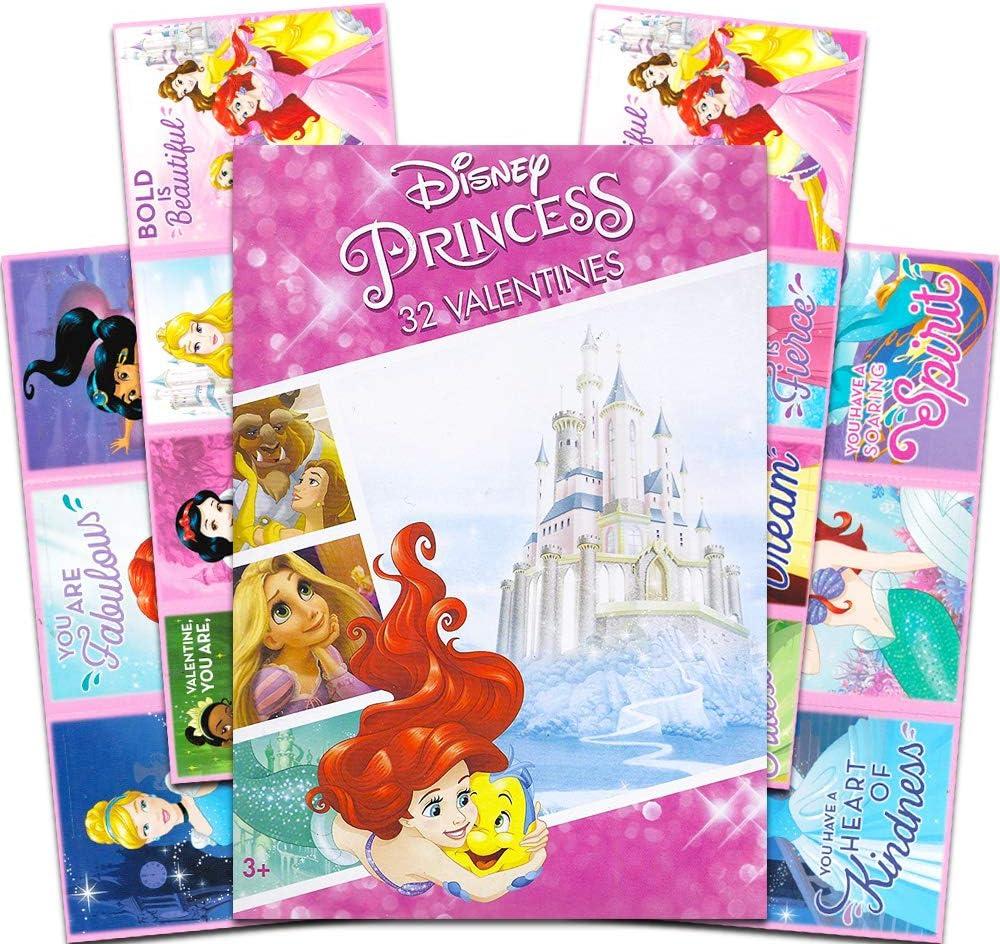 Disney Princess Valentine Cards 32 Count NIB