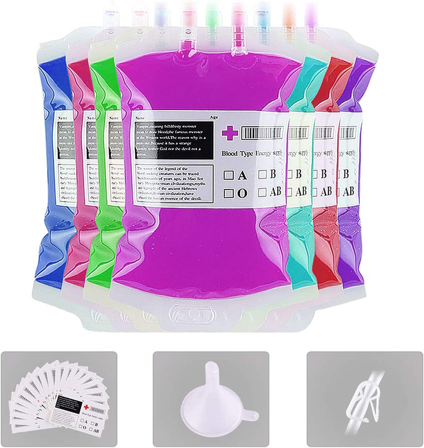 Set Ranking sold out TOP12 of 10 IV Bags Halloween for Reusable Drinks Blood