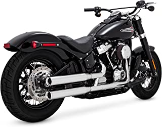 Vance & Hines Chrome Eliminator 300 Slip-ons for 2018-Newer Softail Street Bob, Low Rider, Softail Slim, Fat Boy, and Breakout