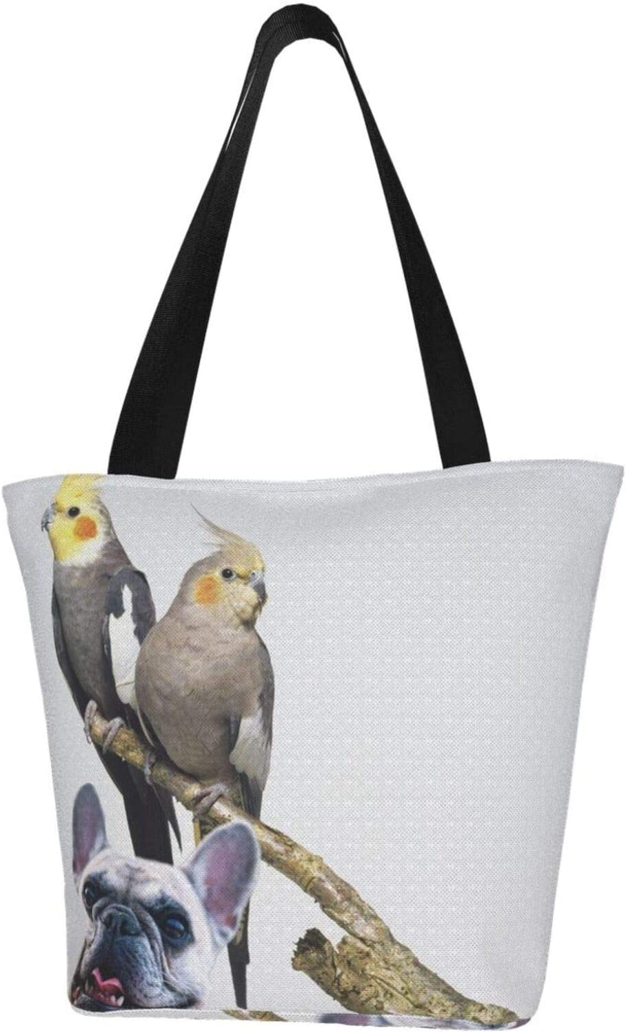 AKLID Cockatiel Extra Large Water Canvas Resistant Ranking TOP7 Tote Rapid rise for Bag