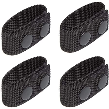 Black Web Uncle Mike/'s 89080 Sentinel Belt Keepers Durable Nylon Set of 4