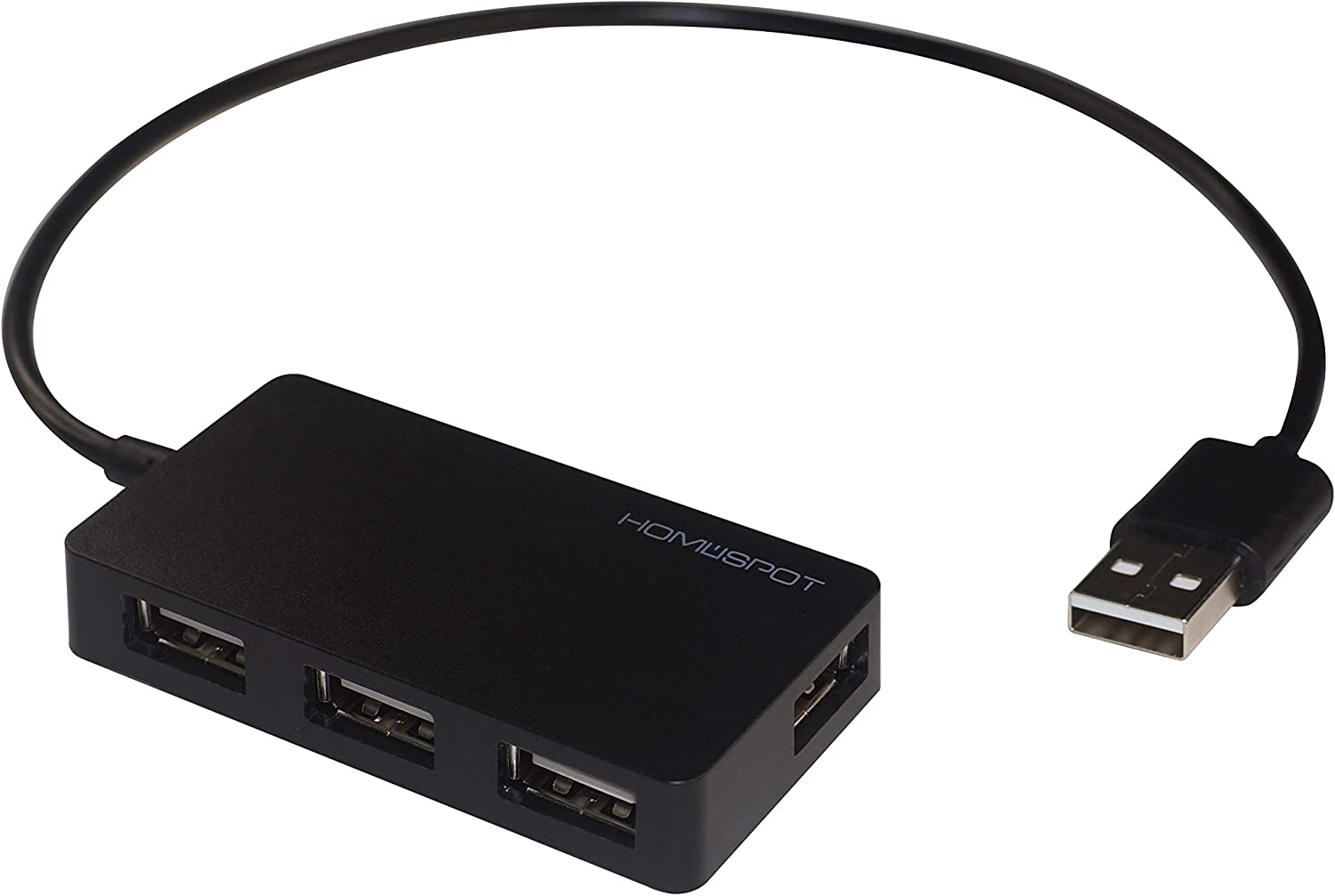 HomeSpot USB2.0 Hub 4-Port High Speed with Long Extension Cable Compatible with Windows 7/8/10 OSX Linux