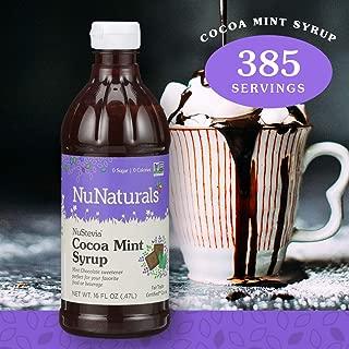 NuNaturals NuStevia Sugar-Free Cocoa Mint Syrup Natural Stevia Sweetener with 0 Calories, 0 Sugar, 0 Carbs, 385 Servings (16 oz)