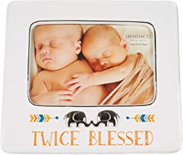 Twice Blessed Silver Toned 6 x 4 Ceramic Metal Glass Wall and Table Top Frame