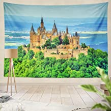ONELZ Decor Collection,View of Hohenzollern Castle in The Swabian Alps Baden Wurttemberg Germany Bedroom Living Room Dorm Wall Hanging Tapestry 50 L X 60 W Polyester Polyester Blend