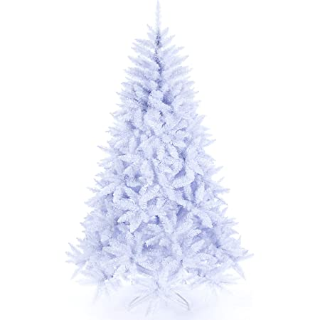 Amazon Com Artificial Christmas Tree Classic Xmas Pine Tree 5 6 7 Ft Unlit White Kitchen Dining