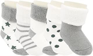 Ateid, Calcetines Invierno de Felpa para Bebés Paquete de 5