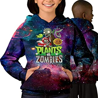 Plants-VS -Zombies Fashion Cotton Teen Starry Sky with Pocket Sweater