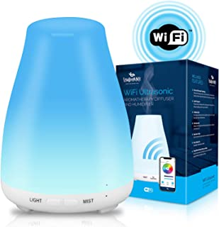 Symboyance Smart Aromatherapy Oil Diffuser & Humidifier - WiFi Ultrasonic Cool Mist Air Aroma Diffusers For Essential Oils With LED Meditation Night Light For Home, Office & Yoga - Unique Present