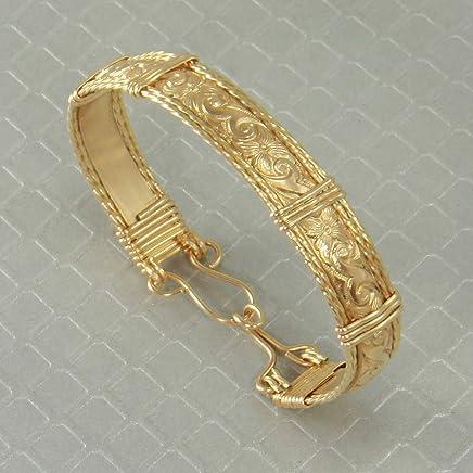 fdf69424d98 Handmade 14k Gold Bangle Bracelet, Wire Wrapped Jewelry, Custom Order