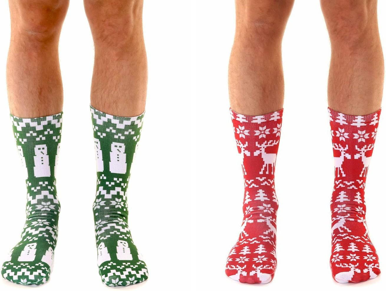 Living Royal Ugly Sweater Snowman  Moose Crew Socks