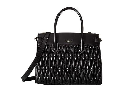 Furla Pin Cometa Small Tote East/West (Onyx) Tote Handbags