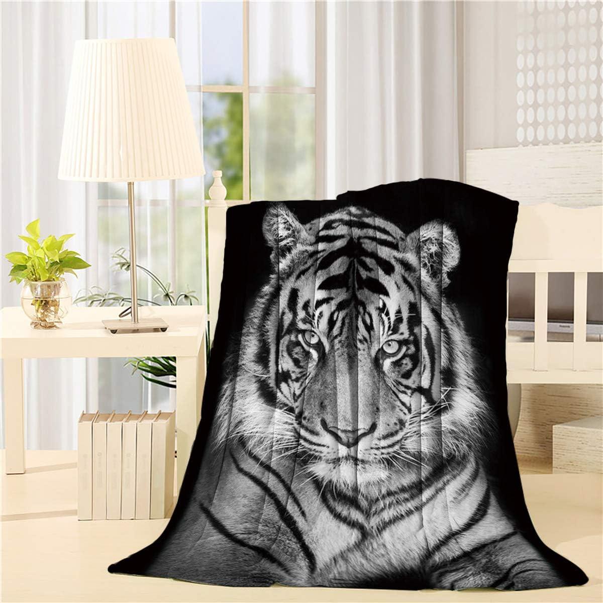Savannan Flannel Fleece Blanket Tiger Wild Wh Black Life Max 69% OFF Animal Washington Mall